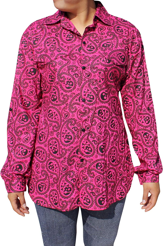 RaanPahMuang Women's Plaid Shirt Button Down Long Sleeve Western Boyfriend Blouse