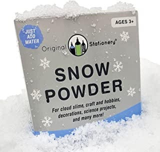 Original Stationery Instant Snow Powder [2 gallons] Creates Slushie Fake Snow. Use with Slime, Daiso Clay and Floam Beads to Make Cloud Slime. Discover The Wonders of Sodium Polyacrylate Powder