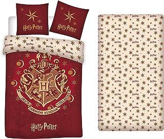 Juego de cama Harry Potter 3 piezas Funda Nordica, Sábana Bajera y Funda de Almohada