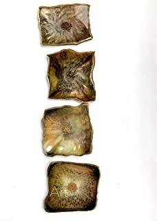 Posavasos en resina marrón ámbar