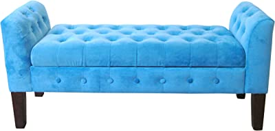 Amazing Amazon Com Homepop Velvet Tufted Storage Bench Settee With Bralicious Painted Fabric Chair Ideas Braliciousco