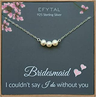 Best sterling silver bridesmaid necklaces Reviews