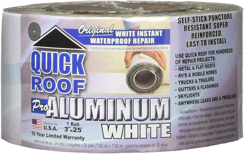 Cofair WQR325 Quick Roof Pro x Aluminum Tampa Mall Max 86% OFF 25' White 3