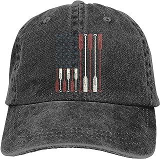 American Flag Crew Rowing Oar Hats for Men Women Vintage Baseball Cap Beach Dad Sun Hat Black