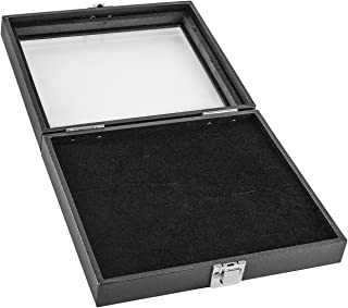 Super Z Outlet Black Wooden 36 Slot Ring Storage Box Display Case for Home Storage, Jewelry Organizing
