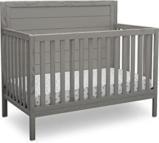 Delta Children Farmhouse 4-in-1 Convertible Baby Crib, Rustic Haze (Grey)