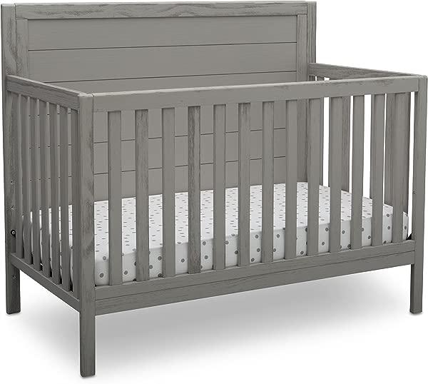 Delta Children Farmhouse 4 In 1 Convertible Baby Crib Rustic Haze Grey