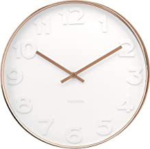 Karlsson Mr. White Numbers Wall Clock with Copper Case, 37.5 x 6cm