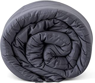Weighted Blanket Cotton Weighted Quilt 6.8kg Gray Fall Asleep Faster and Sleep Better Single Size Gray