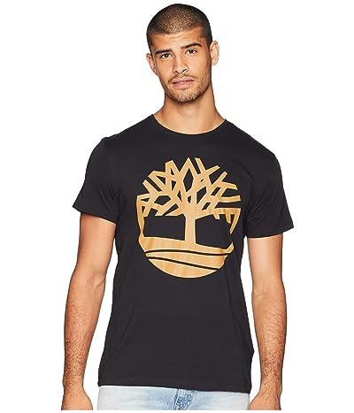 Timberland Short Sleeve Seasonal Logo Tee (Black Tree) Men
