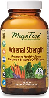 MegaFood, Adrenal Strength, Supports a Healthy Stress Response, Herbal Supplement, Gluten Free, Vegetarian, 90 Tablets (45 Servings) (FFP)
