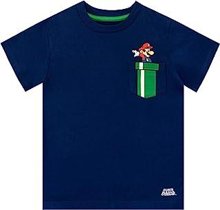 Super Mario Personnages Unisexe T-Shirt Gris chin/é,