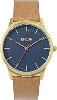 Men's 'Bresson' 5020a Stainless Steel and Brown Leather Strap Watch, 39MM