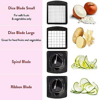 Fullstar Vegetable Chopper - Spiralizer Vegetable Slicer - Onion Chopper with Container - Pro Food Chopper - Slicer D...