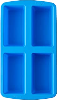 Wilton Easy-Flex Silicone 4-Cavity Mini Loaf Pan for Breads, Cakes, and Meatloaf