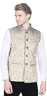 Blacksmith Floral and Paisley Printed Nehru / Modi Jacket for Men - Wedding Nehru Coat