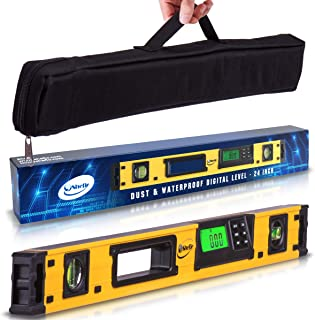 24-Inch Professional Digital Magnetic Level - IP54 Dust and Waterproof Electronic Level Tool - Get Master Precision with S...