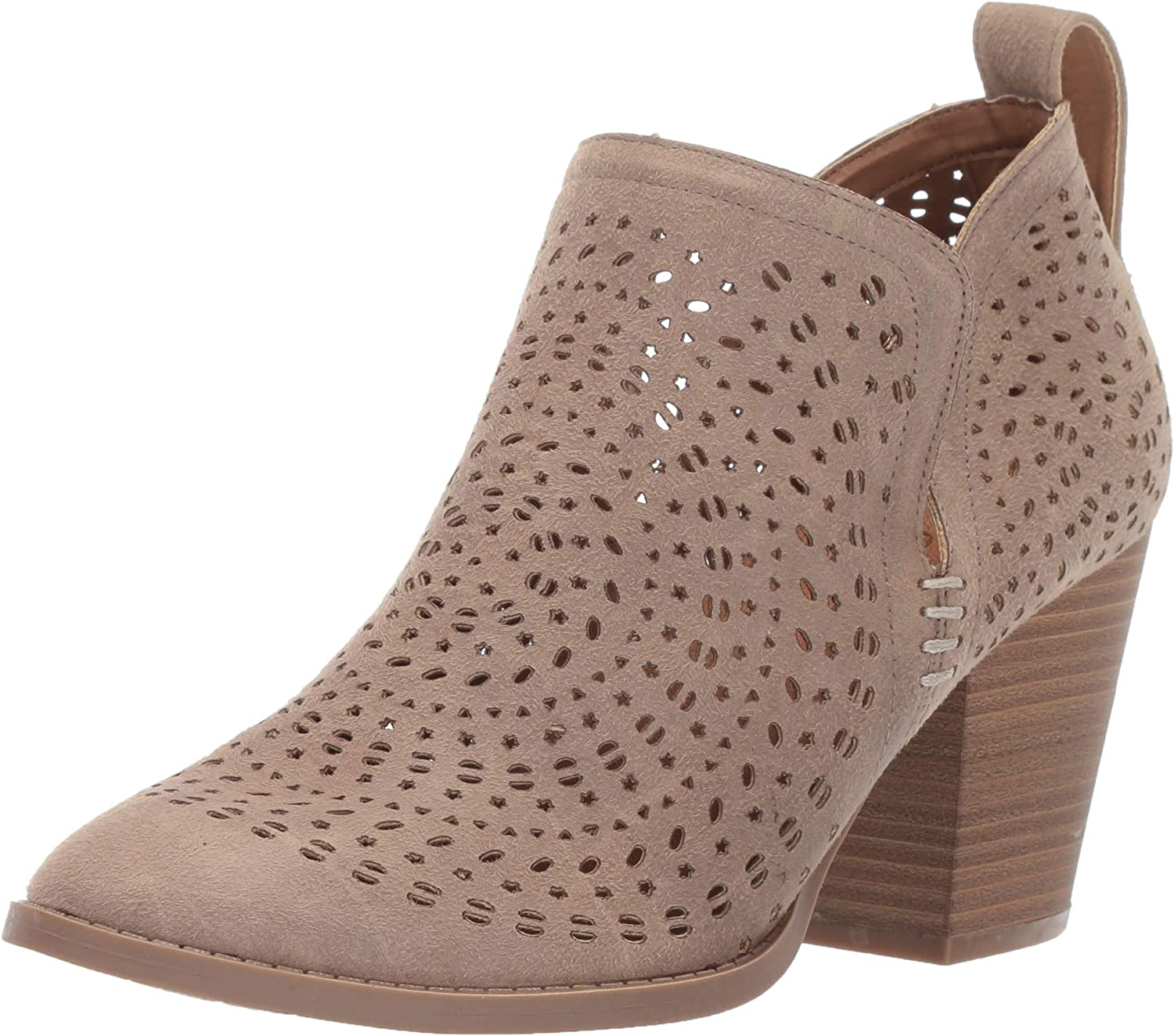 Sugar Women's Racer Ranking TOP16 Laser Cutout Bootie Ankle Block Easy-to-use Pull-on Heel