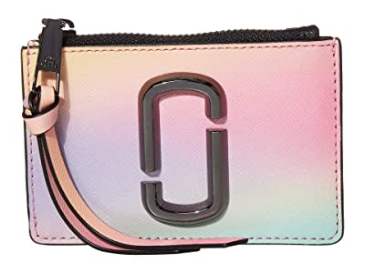 Marc Jacobs Snapshot Airbrushed Top Zip Multi Wallet (White) Wallet Handbags