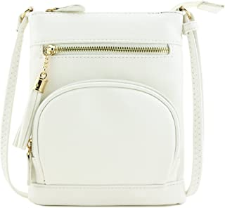 Front Half-moon Zipper Pocket Small Crossbody Bag