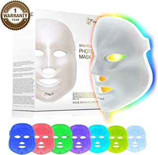 Project E Beauty 7 Color LED Light Therapy Treatment Skin Rejuvenation Brightening Facial Beauty Skin Care Mask