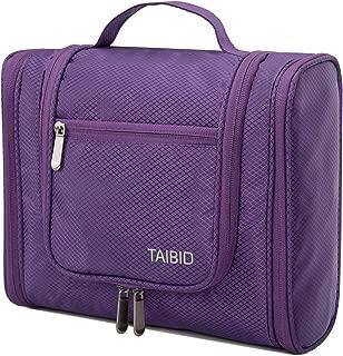 Archaeus Hanging Travel Toiletry Bag, Large Water Resistant Organizer Makeup Bag Cosmetics Bag for Women and Men, Purple