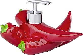 WENKO Dozownik mydła Peperoni – dozownik mydła w płynie, dozownik płynu do mycia naczyń, pojemność: 0,15 l, żywica poliest...