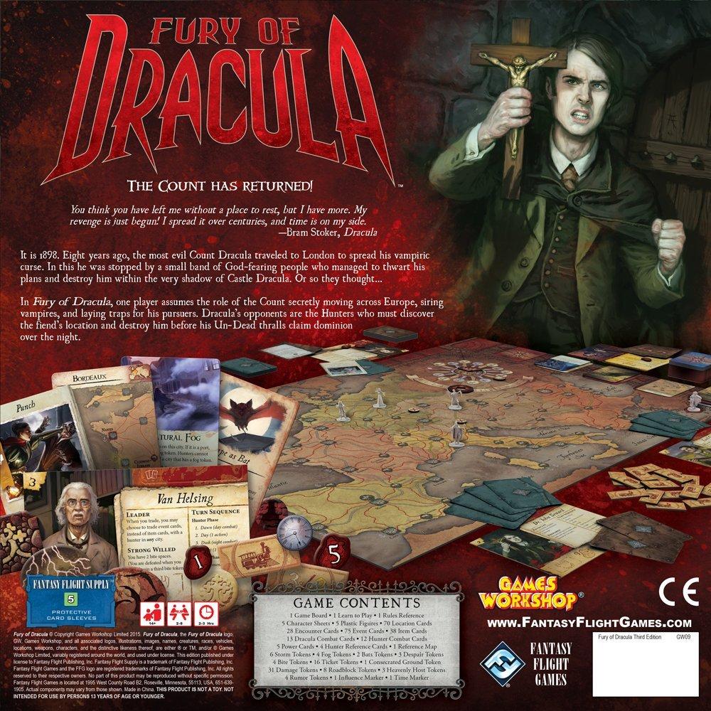 Fury of Dracula: Fantasy Flight Games: Amazon.es: Juguetes y juegos
