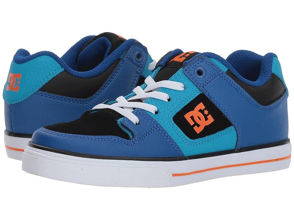 DC Kids Pure Elastic (Little Kid/Big Kid) (Blue/Blue/Orange) Boys Shoes
