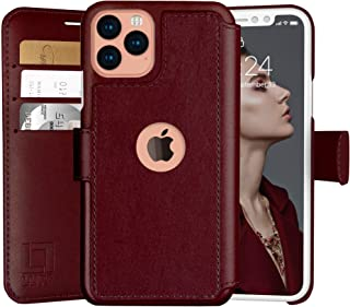 LUPA iPhone 11 Wallet Case -Slim iPhone 11 Flip Case with Credit Card Holder, for Women & Men, Faux Leather i Phone 11 Purse Cases with Magnetic Closure, Burgundy