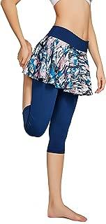 Women's Capris Yoga Pants Tights Athletic Skorts Running Skirted Leggings Sun Protection
