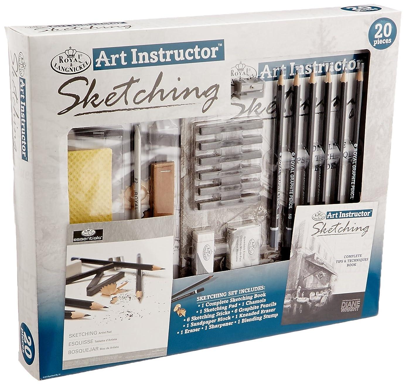 ROYAL BRUSH Art Instructor Sketching Set-20pc rcb2724182