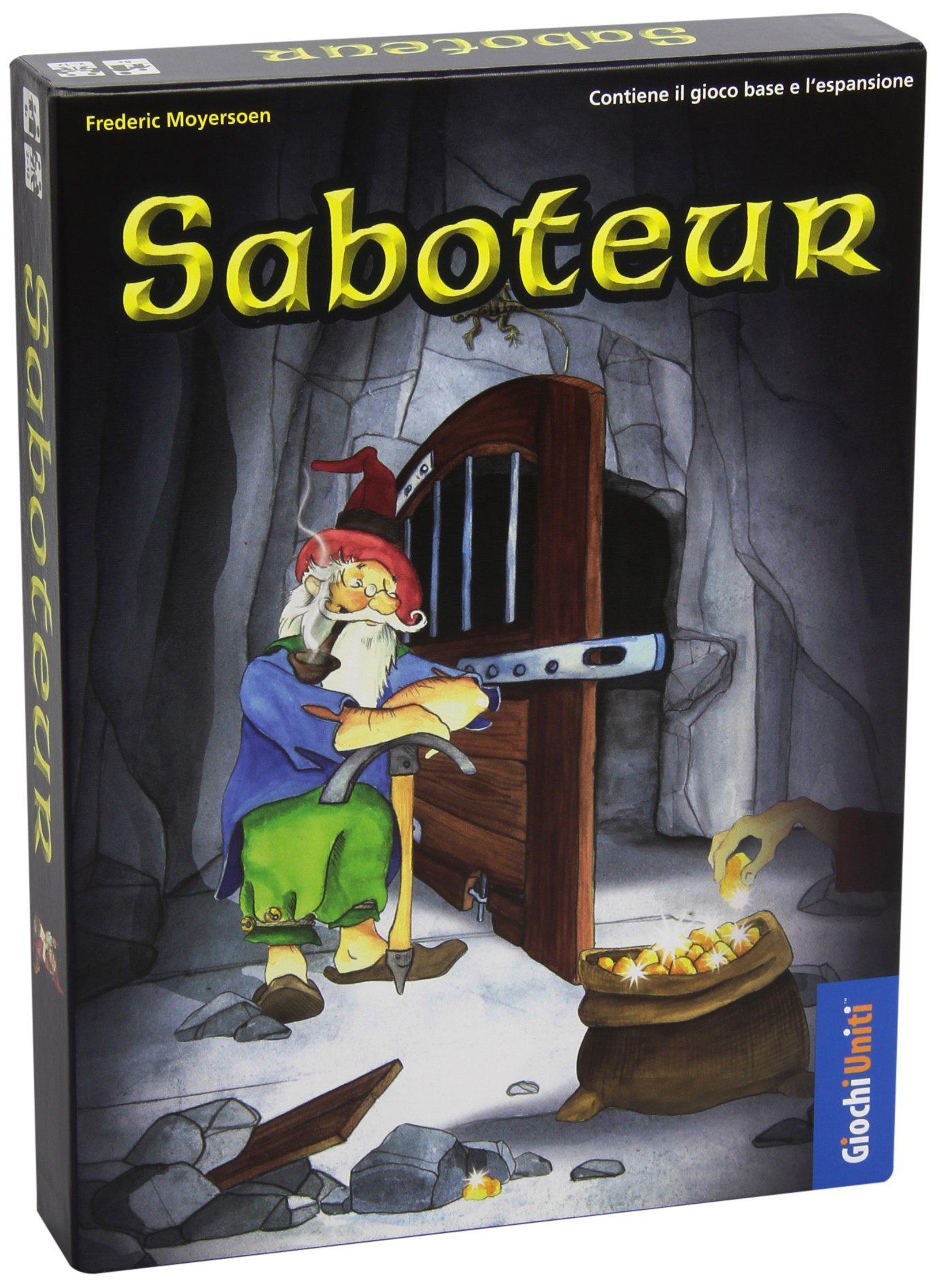Giochi Uniti – Saboteur Juegos de Cartas associato al Mecanismo del piazzamento: Amazon.es: Juguetes y juegos