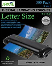 Apache Laminating Pouches, 3 mil, Letter Size, 300 Pack