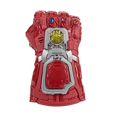 Avengers Marvel Endgame Red Infinity Gauntlet Electronic Fist Roleplay Toy with Lights and Sounds for Kids Ages 5 and Up