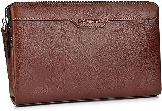 حقيبة يد للرجال من BALIDIYA مصنوعة من الجلد الأصلي ومحفظة لحفظ بطاقات العمل