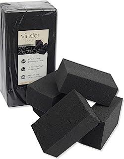 Vindor 5X Universalschwamm – Polierschwamm Reinigungsschwamm Schaumstoff, perfekt für die Autopolitur schwarz