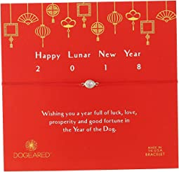 Dogeared - Happy Lunar New Year Crystal on Red Bracelet