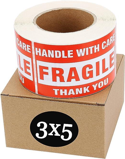 100 Pcs Extra Large fragile Stickers étiquettes 140 mm x 50 mm 14cmx5cm