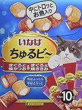 いなば 猫用おやつ ちゅるビ~ まぐろと焼かつお&まぐろと焼ささみ 10g×10袋入