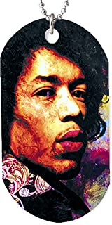 Mark Lewis Art Jimi Hendrix Necklace Dog tag Pendant, Keychain and Gift Bag 27 Club – ik-jh-dt Signed Collectible