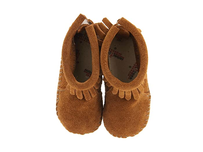 Minnetonka Kids Suede Back Flap Bootie Infant Toddler