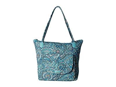 Vera Bradley Carson North/South Tote (Daisy Dot Paisley) Tote Handbags