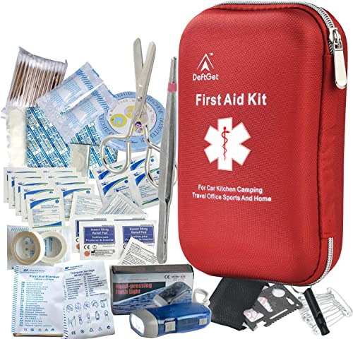 deftget 163 Pieces First Aid Kit Waterproof IFAK Molle System Portable Essential Injuries Medical Emergency Equipment...