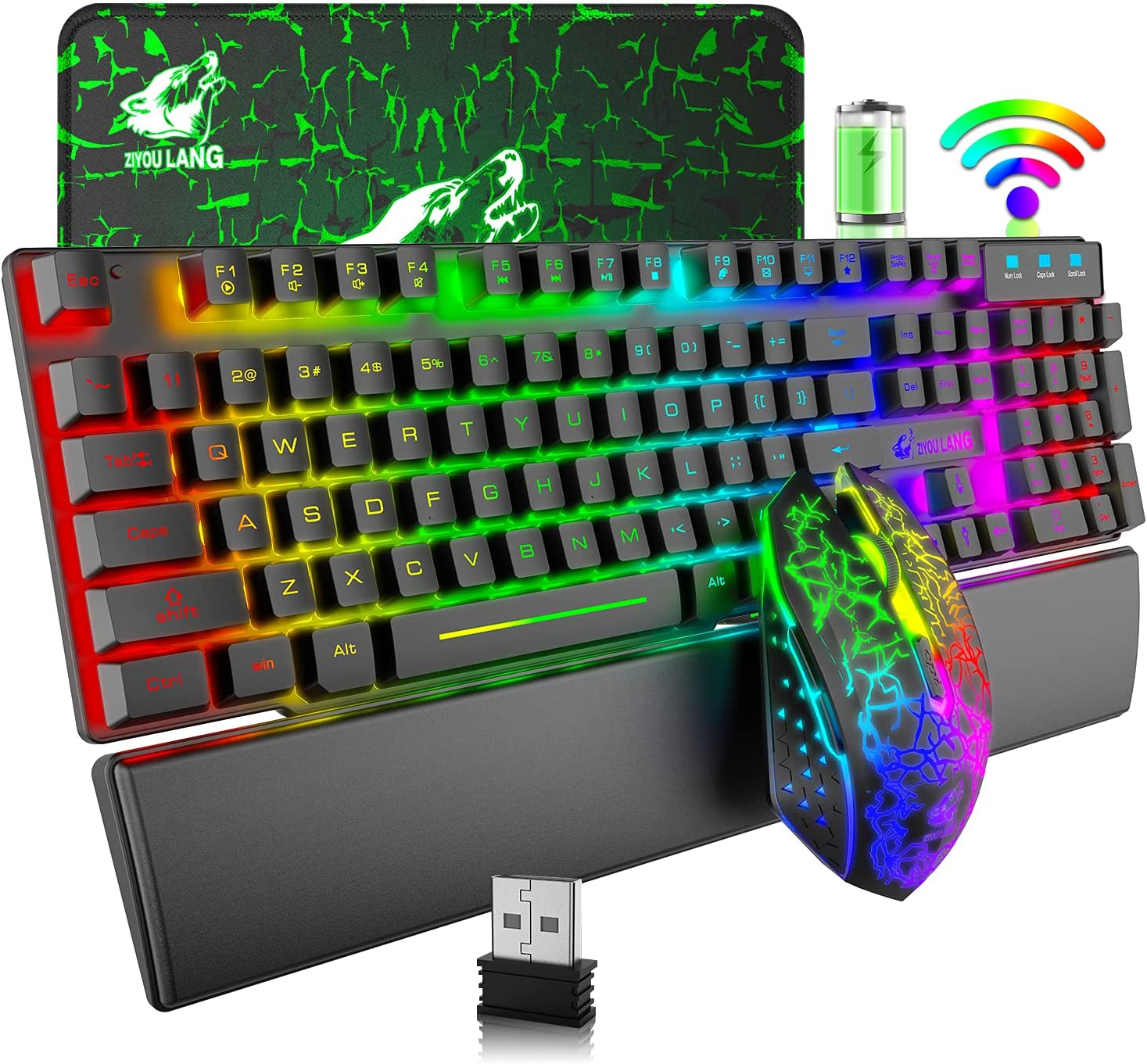 Wireless Gaming Long-awaited Soldering Keyboard and Mouse Backlight R Rainbow Combo LED