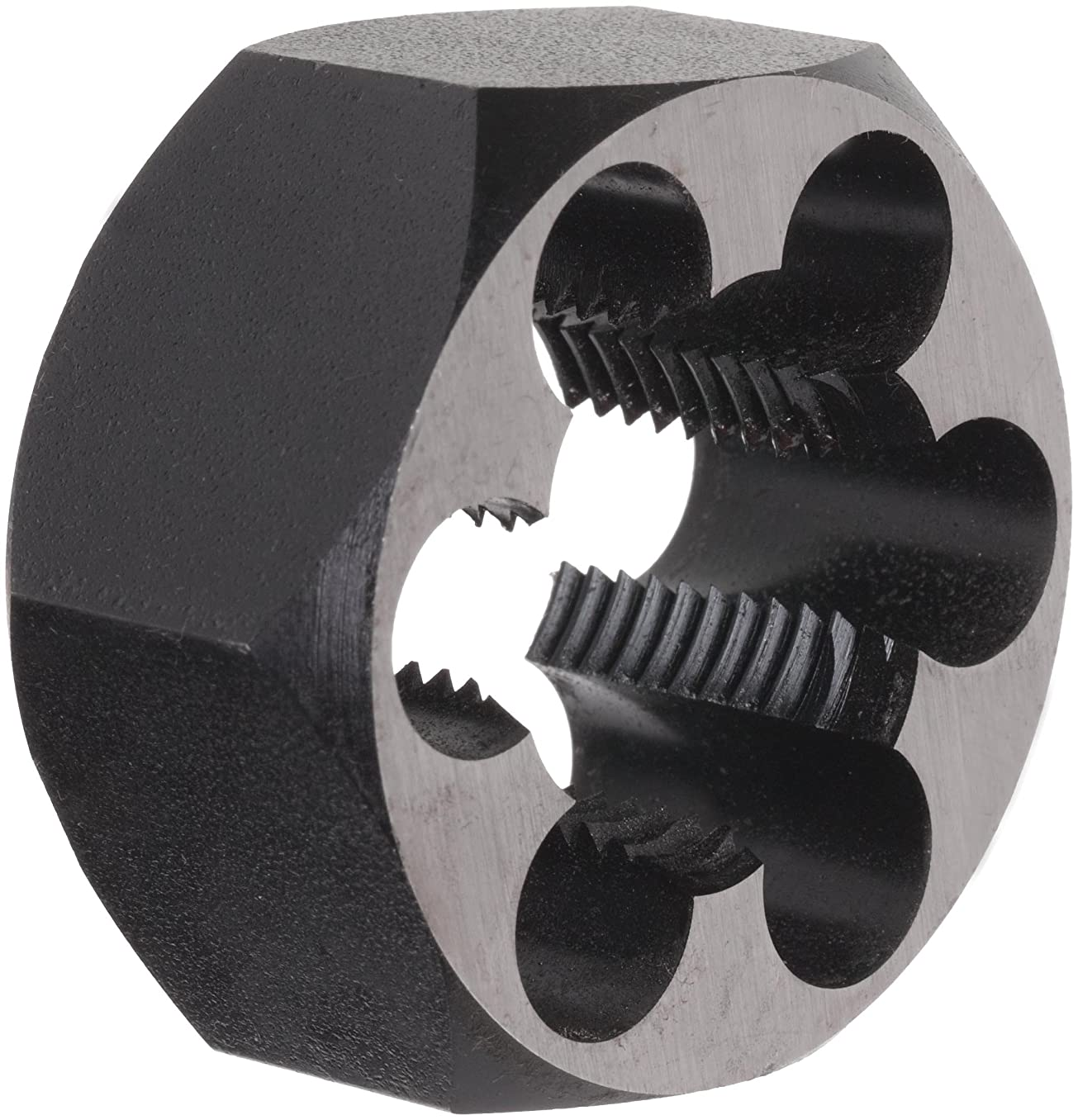 Union Butterfield 2025(UNF) Carbon Steel Hexagon Threading Die, Uncoated (Bright) Finish, 1-1/8