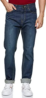 Giordano Men's 01117046 Mid rise regular Tapered Jeans
