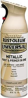 Rust-Oleum 261415 Surface, 11 oz, Champagne Universal Mist Metallic Spray Paint, 11 Fl Oz (Pack of 1)