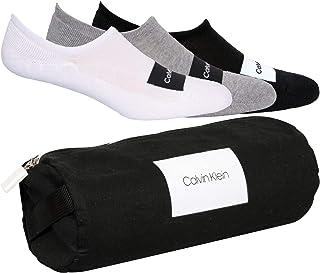 3-pack Logotipo Parche Parche Calcetines Forro De Los Hombres Bolsa De Regalo, Negro/Blanco/Gris