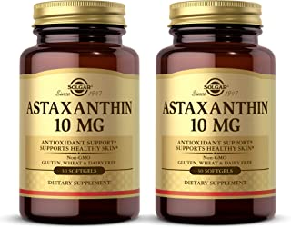 Solgar Astaxanthin 10 mg, 30 Softgels - 2 Pack - Potent Antioxidant Protection, Supports Healthy Skin Glow - with Naturall...